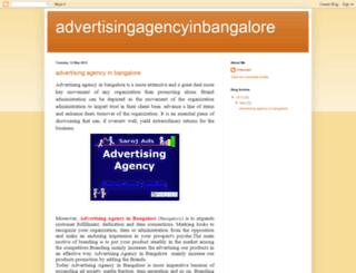 advertising-agency-inbangalore.blogspot.in screenshot
