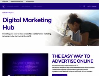 advertising.bt.com screenshot