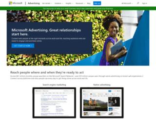 advertising.msn.com screenshot