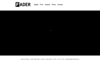 advertising.thefader.com screenshot