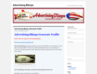 advertisingblimps.us screenshot