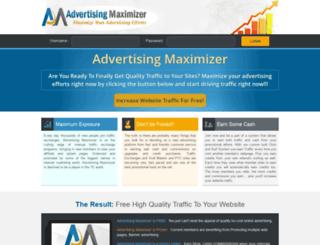 advertisingmaximizer.com screenshot