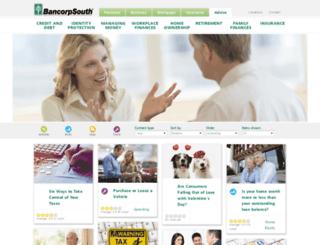 advice.bancorpsouth.com screenshot