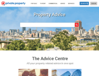 advice.privateproperty.co.za screenshot