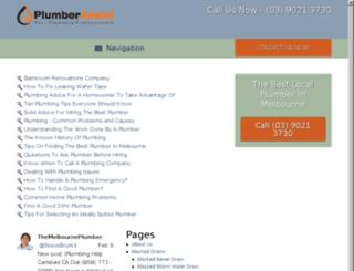 advice.themelbourneplumber.com screenshot
