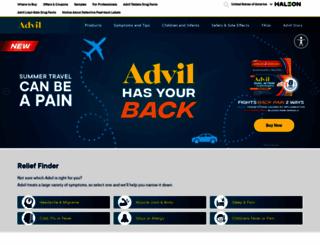 advil.com screenshot