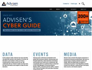 advisen.com screenshot
