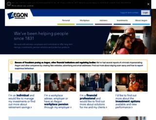adviser.aegon.co.uk screenshot