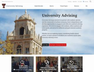advising.ttu.edu screenshot