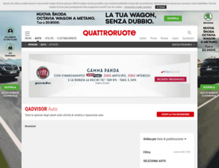 advisor.quattroruote.it screenshot