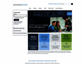 advisorbank.mybankingservices.com screenshot