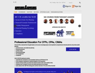 advisorblogcentral.com screenshot
