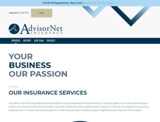 advisornetinsurance.com screenshot
