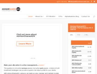 advisorsharesadv.com screenshot