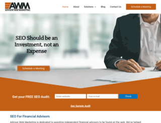 advisorwebmarketing.com screenshot