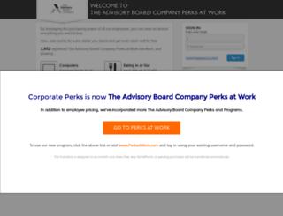 advisoryboard.corporateperks.com screenshot