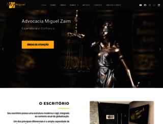 advocaciamiguelzaim.com.br screenshot