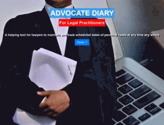 advocatediary.net screenshot