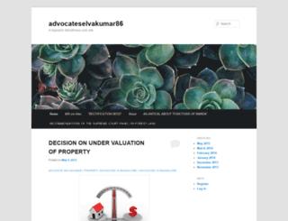 advocateselvakumar86.wordpress.com screenshot