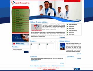 adwinlifecare.com screenshot