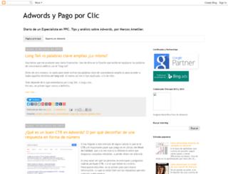 adwords-ppc-especialista.blogspot.co.uk screenshot
