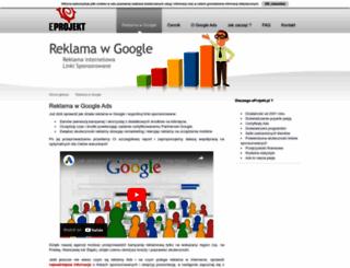 adwords.eprojekt.pl screenshot