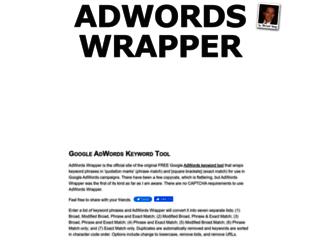 adwordswrapper.com screenshot