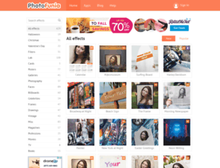 ae.photofunia.com screenshot