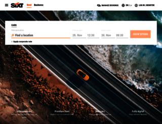 ae.sixt.com screenshot