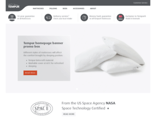 ae.tempur.com screenshot