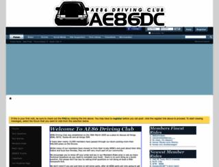 ae86drivingclub.com.au screenshot