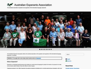 aea.esperanto.org.au screenshot