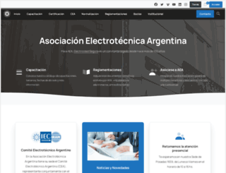 aea.org.ar screenshot