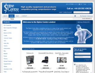 aecc-spinecentre.co.uk screenshot