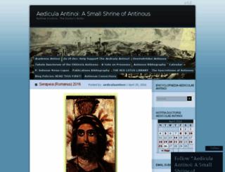 aediculaantinoi.wordpress.com screenshot
