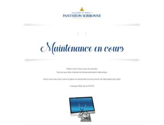 aedpa.univ-paris1.fr screenshot