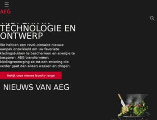 aeg-electrolux.be screenshot