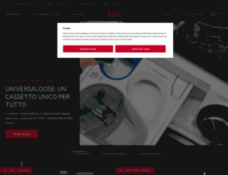 aeg-electrolux.it screenshot
