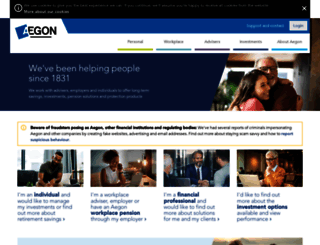 aegon.co.uk screenshot