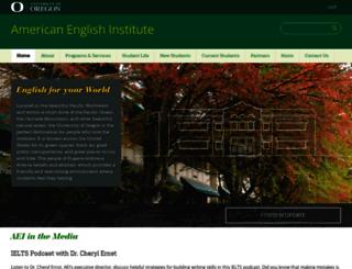 aei.uoregon.edu screenshot