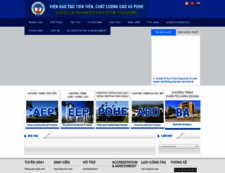 aep.neu.edu.vn screenshot