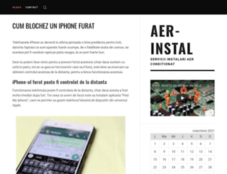 aer-instal.ro screenshot