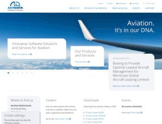 aerdata.com screenshot