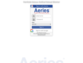 aeries.fsusd.org screenshot