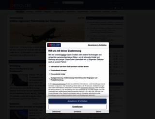 aero.de screenshot