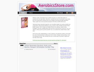 aerobicsstore.com screenshot