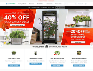 aerogardenstore.com screenshot