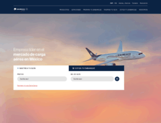 aeromexicocargo.com.mx screenshot