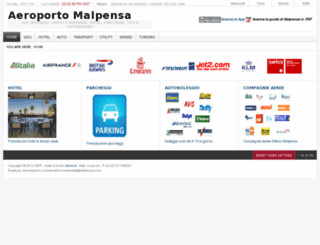aeroportomalpensa.it screenshot