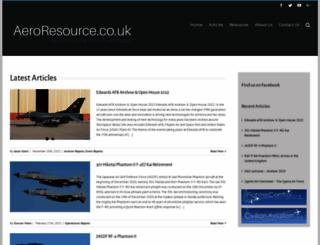 aeroresource.co.uk screenshot